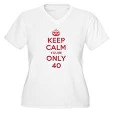 K C Youre Only 40 T-Shirt