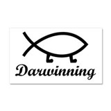 Darwinning Evolution Darwin Fish Car Magnet 20 x 1