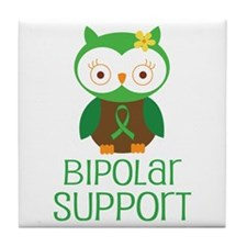 Bipolar Support Owl Tile Coaster
