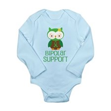 Bipolar Support Owl Long Sleeve Infant Bodysuit