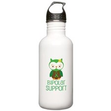 Bipolar Support Owl Water Bottle