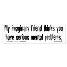 Imaginary Friend Bumper Bumper Sticker