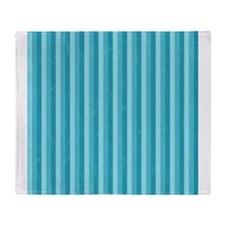 Shades of Blue Stripes Throw Blanket