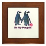Be My Penguin this valentines day Framed Tile