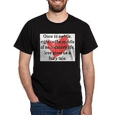 Fairy Tale Love Black T-Shirt