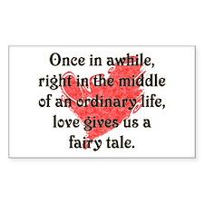 Fairy Tale Love Rectangle Decal
