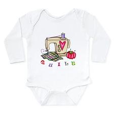 Quilt Long Sleeve Infant Bodysuit