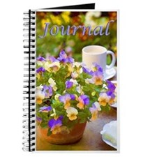 Tea Time And Pansies Journal