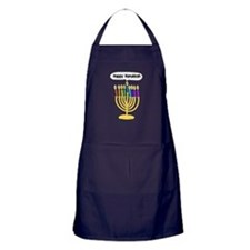 Happy Hanukkah Menorah Apron (dark)