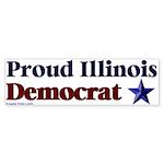 Proud Illinois Democrat Bumper Sticker