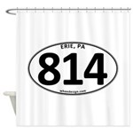 Erie, PA 814 Shower Curtain