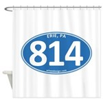 Blue Erie, PA 814 Shower Curtain