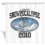 Snowpoocalypse 2010 - NYC Shower Curtain