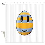 Smiley Easter Egg Shower Curtain