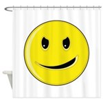 Smiley Face - Evil Grin Shower Curtain