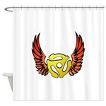 Red Winged 45 RPM Adap Shower Curtain