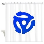 Blue 45 RPM Adapter Shower Curtain