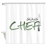 Green Sous Chef Shower Curtain