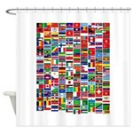 Parade of Nations Shower Curtain