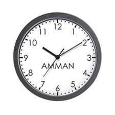 AMMAN Modern Newsroom Wall Clock