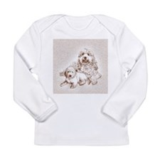 goldendoodle family dogs Long Sleeve Infant T-Shir