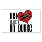 Heart Belongs To Dr. Burke Rectangle Decal