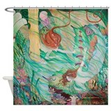 Mermaids in Atlantis Shower Curtain