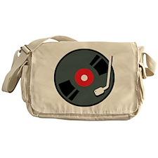 Record Player Messenger Bag