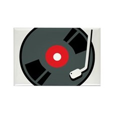 Record Player Rectangle Magnet