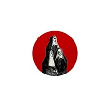 Vintage Illustration Of Nuns Mini Button