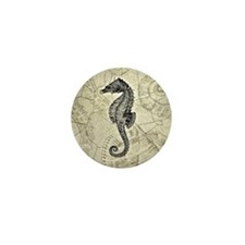 Seahorse Mini Button