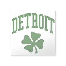 "Detroit 313 IRISH Square Sticker 3"" x 3"""