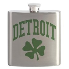 Detroit 313 IRISH Flask