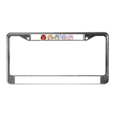 cute owls License Plate Frame