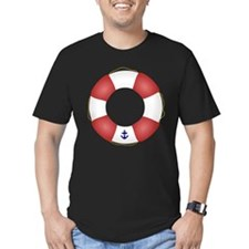 Red and White Life Saver T