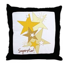 Gold Stars Superstar Throw Pillow