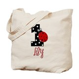 1 Ladybug - LILY- Birthday Custom Tote Bag