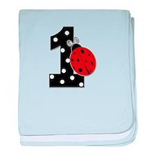 1_ladybug_birthdaygirl_BLANK baby blanket