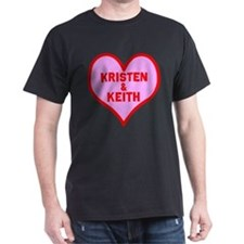 Personalized with names Valentines day heart T-Shirt
