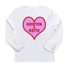 Personalized with names Valentines day heart Long