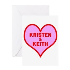 Personalized with names Valentines day heart Greet