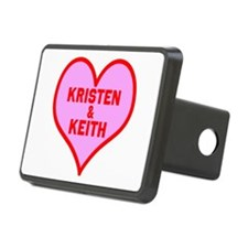 Personalized with names Valentines day heart Recta