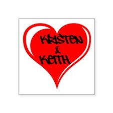 Personalized with names Valentines day heart Squar