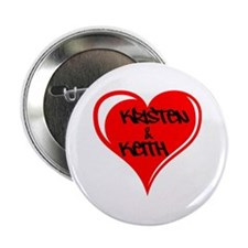 Personalized with names Valentines day heart 2.25""
