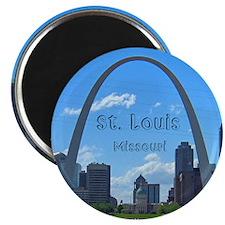 StLouis_5x3_sticker_StLouisSkyline Magnets