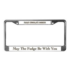 Pagan Chocolate Goddess License Plate Frame