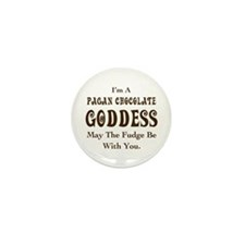 Pagan Chocolate Goddess Mini Button (10 pack)