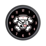 Dolly Heart RN Wall Clock