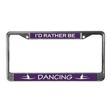 Cute Silhouette dancer License Plate Frame