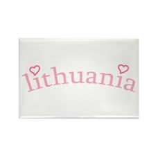 """""""Lithuania with Hearts"""" Rectangle Magnet"""
